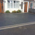 Charcoal/natural paving