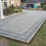 Ash coloured paving